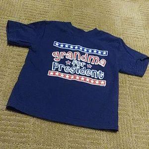 """""""Grandma for President"""" shirt, 2T"""